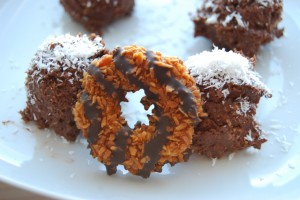 Healthy Girl Scout Samoas with NO added sugar, flour or dairy