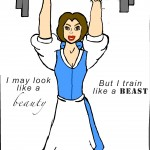You may look like a beauty, but you train like a beast