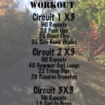 Hill repeat workout on the go