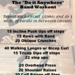 Workout anywhere with resistance bands